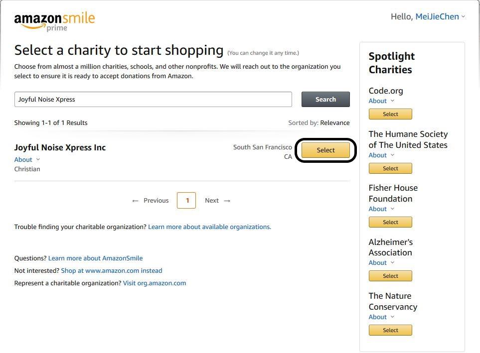 Amazon Smile Computer Step 4