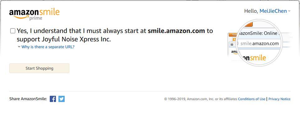 Amazon Smile Computer Step 5